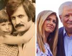 Дженнифер Энистон и ее отец Джон Энистон
