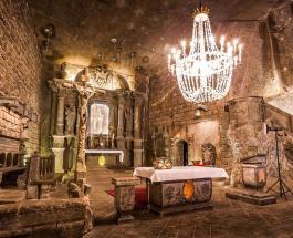 Соляная шахта в Польше предлагает экскурсии к подземным озерам и удивительным залам
