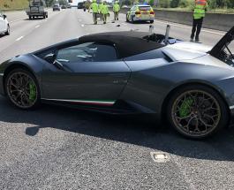 Новый Lamborghini стоимостью более 200 000 евро был разбит через 20 минут после покупки