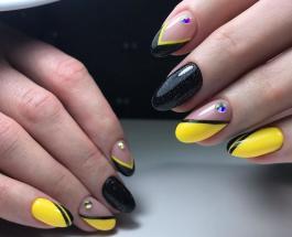 Черно-желтый маникюр: яркие идеи нейл-арта на каждый день