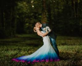 Оригинальные свадебные платья: девушка запустила линию ярких подвенечных нарядов