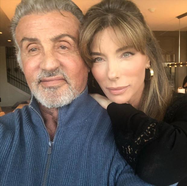 Сильвестр Сталлоне с женой