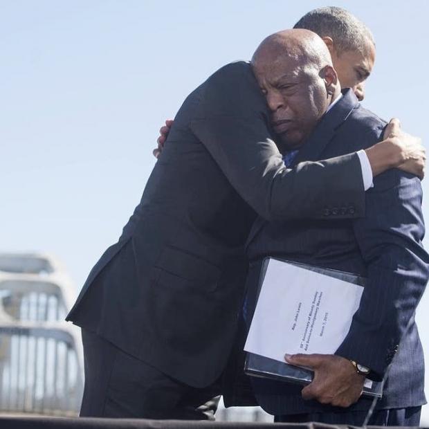 Джон Льюис и Барак Обама