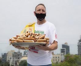 75 хот-догов за 10 минут: чемпион по быстрому поглощению еды установил новый рекорд