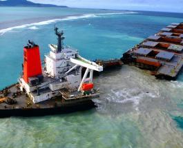 Разлив нефти на Маврикии: спасательная операция и масштабы катастрофы сняты со спутника