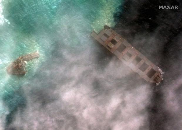 разлив нефти на Маврикии