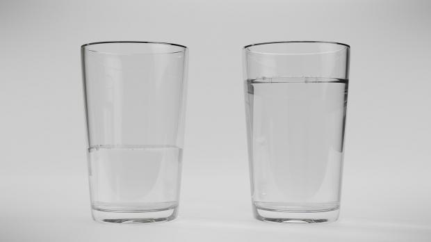 оптимизм стаканы
