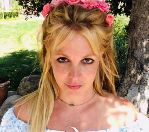 Бритни Спирс в венке из цветов