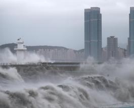 Тайфун Хайшен обрушился на Южную Корею: эвакуированы тысячи людей
