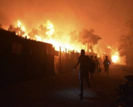 В Греции почти полностью сгорел крупнейший лагерь для мигрантов