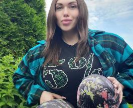 Бодибилдер Наталья Кузнецова примерила черное и платье и обувь на высоких каблуках