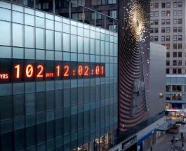 """Обратный отсчет до конца света: в Нью-Йорке установили необычные """"климатические часы"""""""