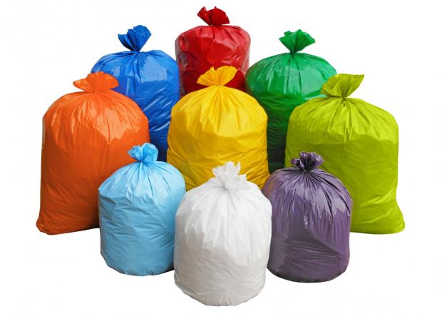 мусорные пакеты разноцветные
