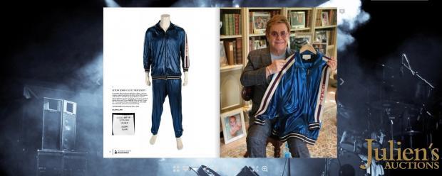 Спортивный костюм Элтона Джона, выставленный на аукцион