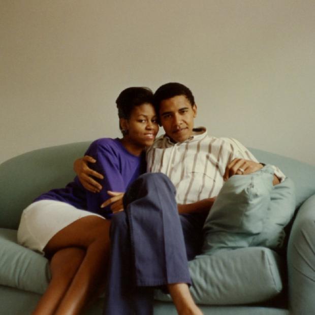 Барак и Мишель Обама в млодости