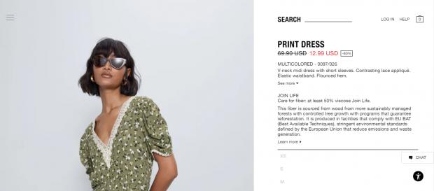 платье от бренда Зара за 13 долларов