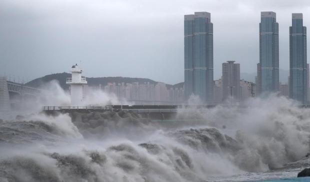 тайфун Хайшен в Южной Корее