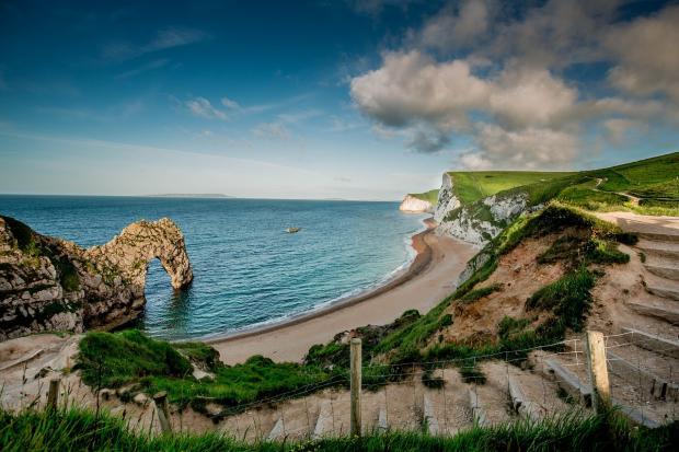 красивый пляж в Британии
