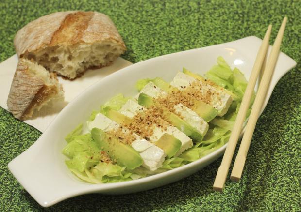 сливочный салат песто с авокадо