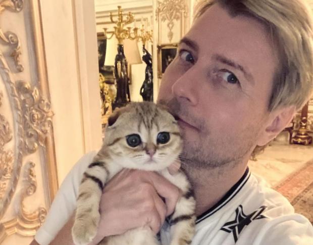 Николай Басков с котом