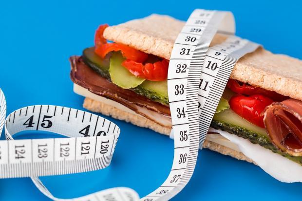 бутерброд и сантиметр