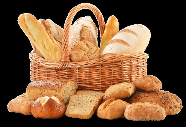 хлебо-булочные изделия в корзине