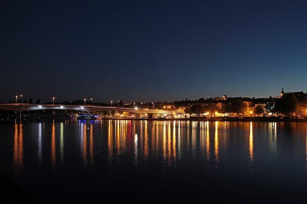 Люксембург ночью