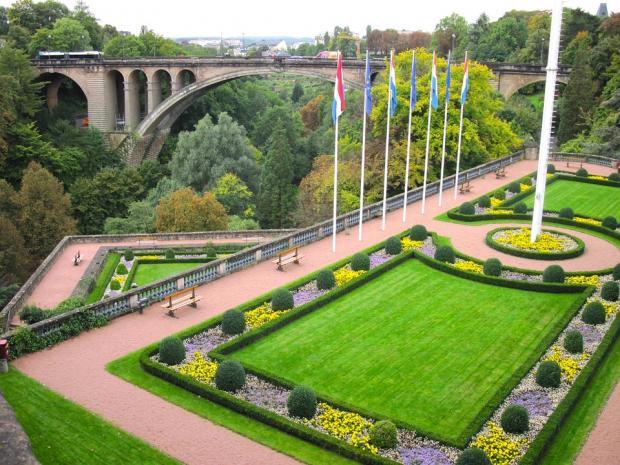 сад растений в Люксембурге