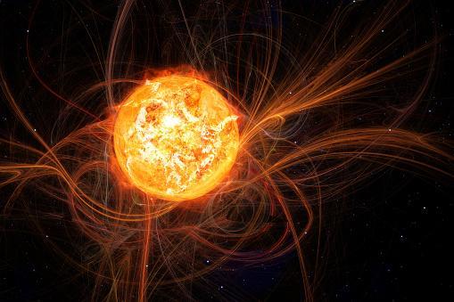 солнце в период повышенной магнитной активности