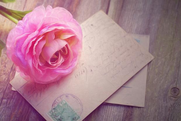 Открытка и роза