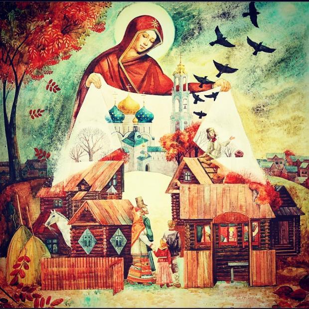 Пресвятая Богородица распростерла свой покров над деревней