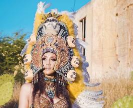 """Красивые девушки в национальных костюмах: фото участниц конкурса """"Мисс Мексика"""""""