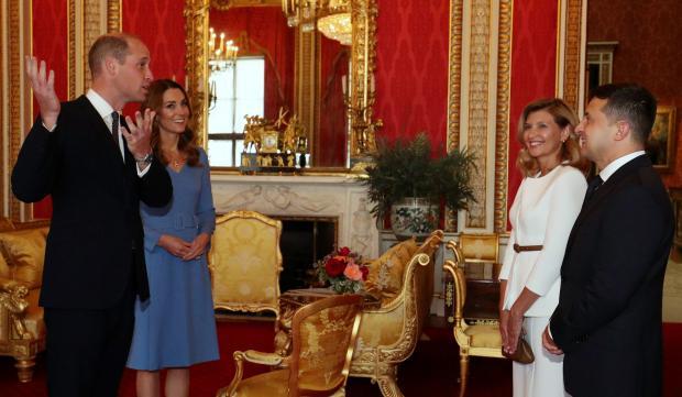 Встреча президента Украины с Кембриджами в Букингемском дворце