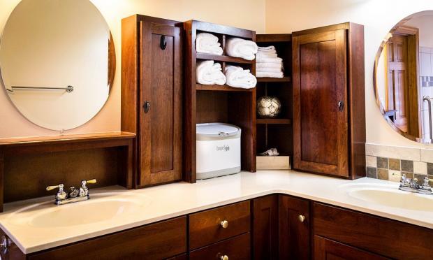 организация системы хранения в ванной комнате