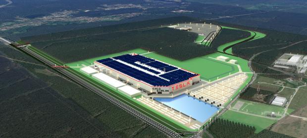строящийся завод Tesla в Германии