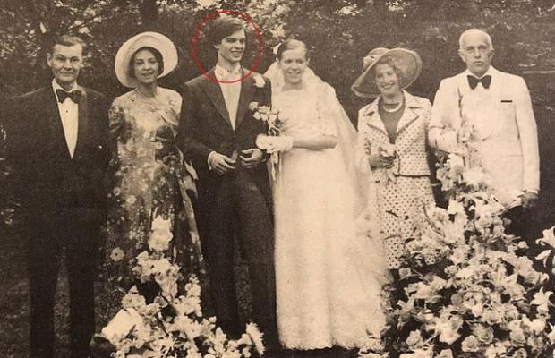 свадебное фото Брижит Макрон