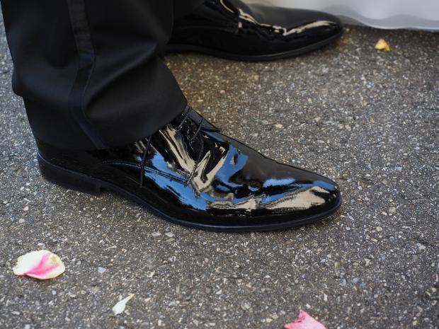 начищенные до блеска туфли