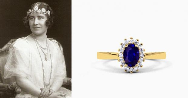 Королева-мать и кольцо из валлийского золота с сапфиром