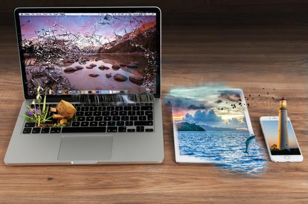 ноутбук, планшет и смартфон творчество