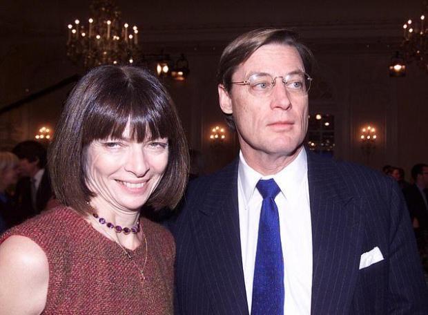 Счастливая Анна Винтур со вторым мужем