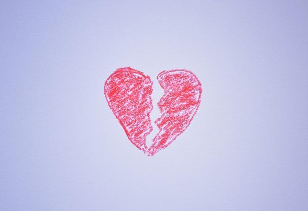 нарисованное разорванное сердце