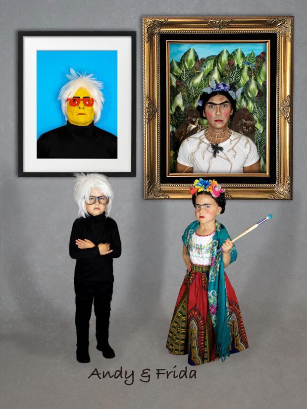 Дети с родителями переоделись в известных художников