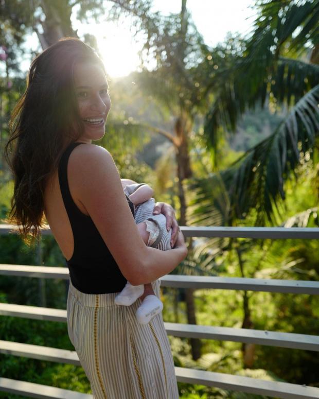 Лиа Мишель с сыном