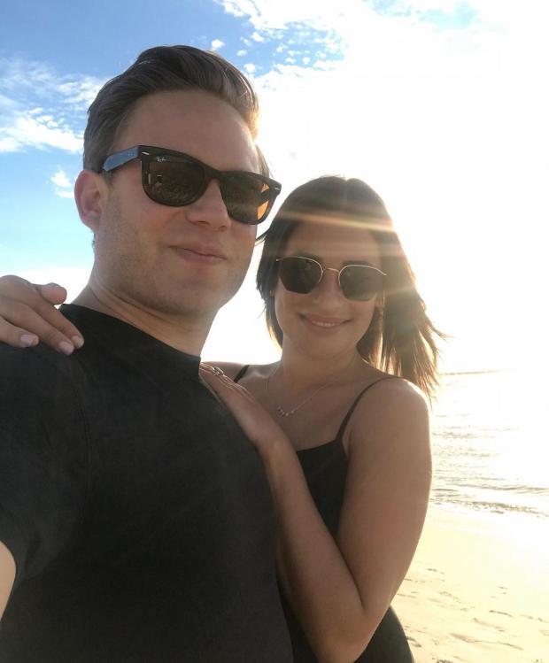 Лиа Мишель с мужем