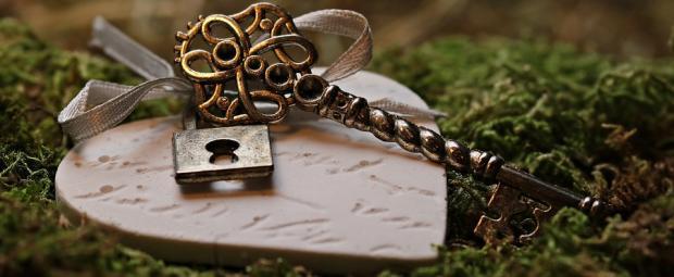 ключи с брелком в виде сердца