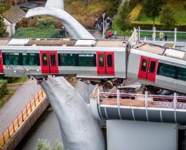 Скульптура в виде хвоста кита предотвратила крушение поезда метро в Нидерландах