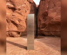 Инопланетное послание или инсталляция: в пустыне Юта обнаружили странный металлический монолит