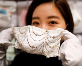 Защитные маски с жемчугом и бриллиантами привлекают любителей роскоши в Японии