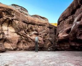 Странный металлический монолит обнаруженный в пустыне Юта исчез