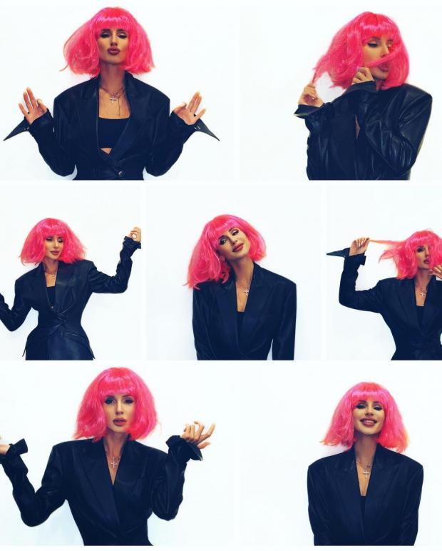 Светлана Лобода в розовом парике
